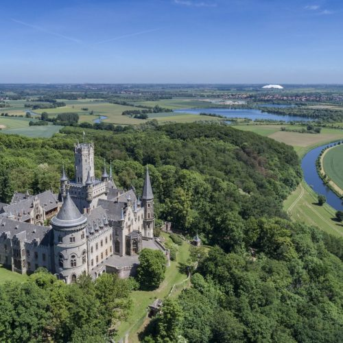 Dronenaufnahme Schloss Marienburg © Stefan Knaak